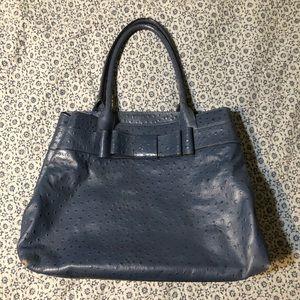 Kate Spade navy leather Satchel bag purse
